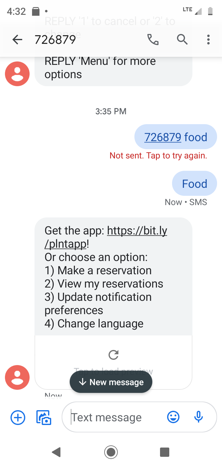 food message